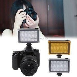Image 3 - ドロップ卸売高輝度撮影DVFT 96 ledビデオライトカメラのdvビデオカメラミノルタ