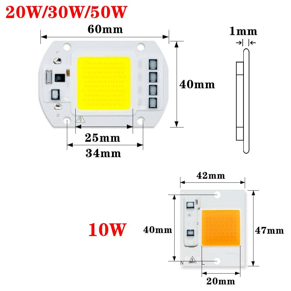 COB LED Lamp CHIP 220V 110V LED Lights Bulb 10W 20W 30W 50W IP65 Smart IC DIY Flood light Bulb Spotlight Lamp Outdoor Lighting 2