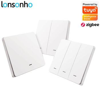 Lonsonho Tuya Zigbee Wireless Smart Scene Switch 1 2 3 Gang Way Remote Control Sticker Zigbee2mqtt Home Assistant - discount item  39% OFF Electrical Equipment & Supplies