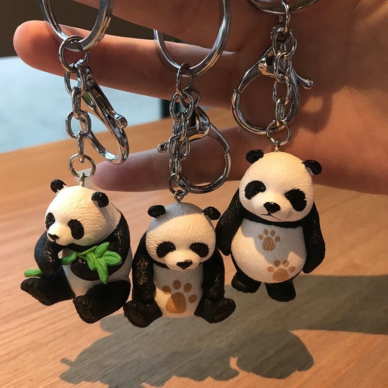 Брелок для ключей с изображением милой китайской гигантской панды, четыре формы, подвеска из смолы для парной сумки, аксессуары для автомоб...