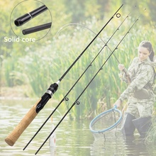 1.68M lure rod 2 Tips Carbon Fiber Spinning Rod ul power Lure Weight 2 6g Ultra light Slow wooden handle Trout pole Free gift