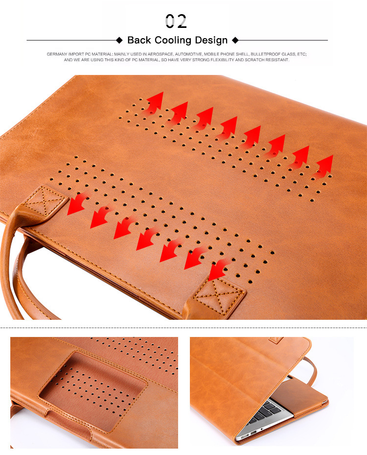MacBook Leather Stand Case