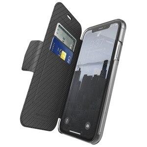 Image 2 - X doria etui flip wallet etui na iPhone 11 Pro Max luksusowe etui ze skóry PU Engage Folio etui na iPhone 11 okładka wbudowane gniazdo na kartę
