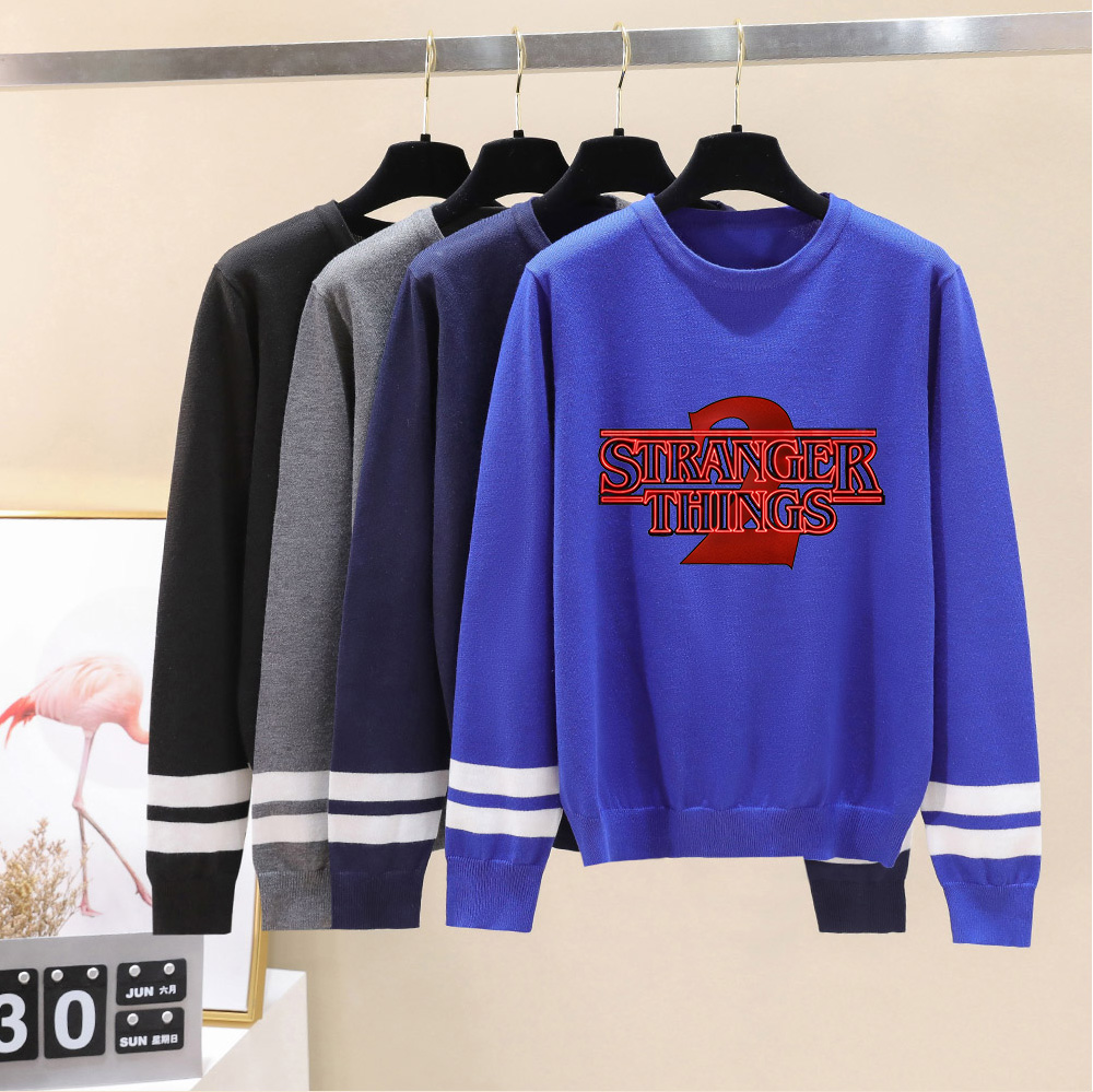 Stranger Things O-neck Sweater Men/women Hot Sale Fashion Knitted Print Sweater Spring Autumn Winter Long Sleeve Sweaters Woman