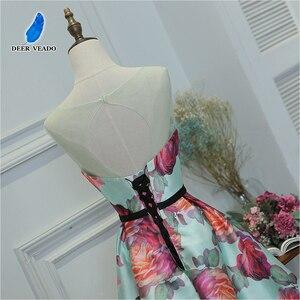 Image 5 - DEERVEADO ชุดราตรียาวพิมพ์ชุดอย่างเป็นทางการผู้หญิง Elegant โอกาส Party Dresses ชุดราตรี Robe De Soiree M218