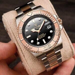 LIGE Design New Mens Automatic Watches Sapphire Luxury Mechanical For Men Stainless Steel Waterproof Watch Men Mekaniska klockor