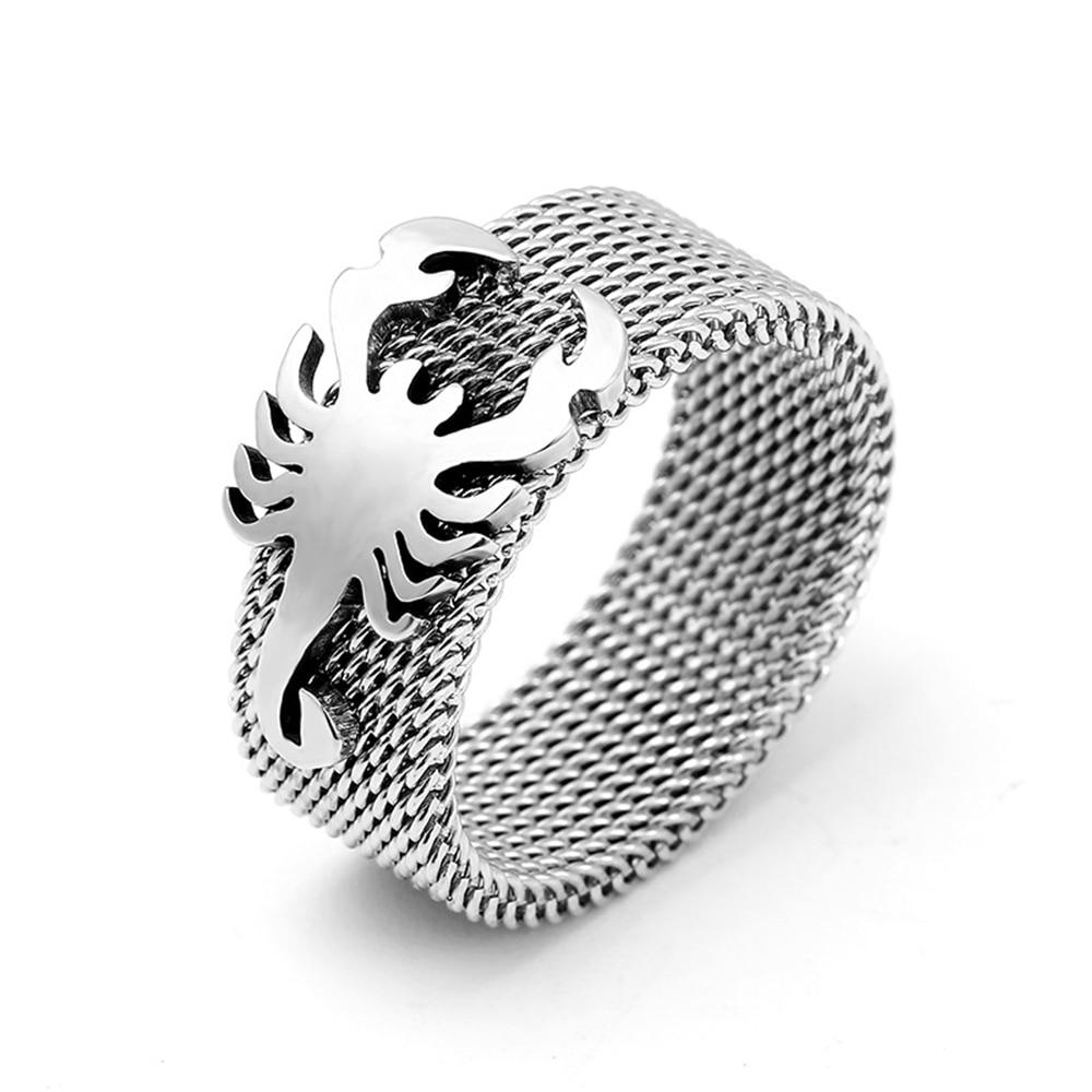 Loredana Стильное мужское благородное 316L простое титановое стальное 8 мм ширина матовое кольцо скорпиона для мужчин эксклюзивное создание