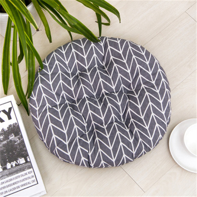 40/45/50CM Round Office Bar Chair coussin Cushion Pad Cotton Thick Cushion Dining Chair Seat Pads Garden Floor Cushion Home Seat