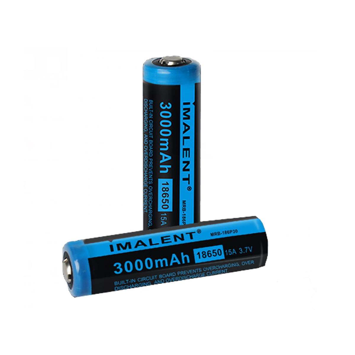 Imalent 18650 Battery Li-ion MRB-186P30 3000mAH Powerful Rechargeable Batteries Lighting Accessory For HR70/RT70/DT70/RT35