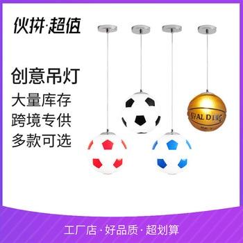 Amazon popular modern simple personality basketball football chandelier bedroom corridor children's art star lamp