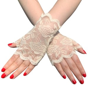 Image 2 - 6 Pairs Fingerless Women Lace Gloves Floral Lace Gloves Sunblock Lace Gloves Dressy Gloves for Wedding Dinner Parties ST254