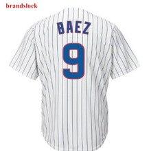 Американский мужской Javier Baez Custom Chicago Jersey Usa бейсбольная крутая футболка