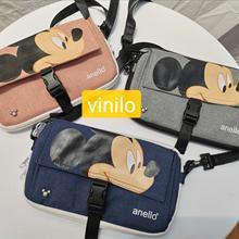 Disney Микки Маус Женщины Мужчины плеча Сумка Леди Сумочка Минни дорожная сумка Мобильный телефон сумка