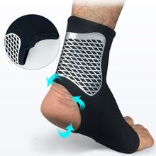 Outdoor Ankle Support Brace Elasticity Protection Foot Bandage Sprain Prevention Sport Fitness Guard Band Football Basketball 1pcs ankle support brace stirrup sprain stabilizer guard ankle sprain aluminum splint