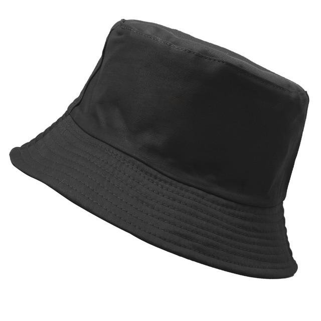 Candy Color Bucket Hats Women Men Black White Panama Bucket Hat Man Woman Hip Hop Sunscreen Fishing Fisherman Hat Harajuku Cap