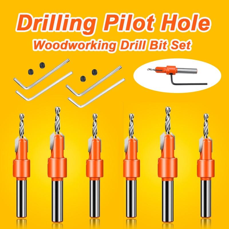 HSS Countersink Drill Bit Screw Woodworking Chamfer Tool Quick Change Wood Hole Drills Bit Round Shank Timber Plastic Working