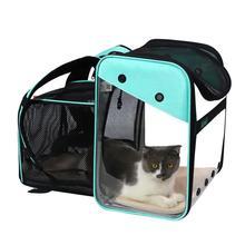 Mesh Backpack Pet-Carrier Cat-Bag Pet-Shoulder-Bags Space Travel Transparent Outdoor