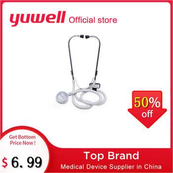 Yuwell stetoskop profesjonalny medyczny stetoskop detektor kardiologia płodu stetoskopy ciśnienie krwi sprzęt medyczny tanie i dobre opinie Single head CE FDA Overall copper