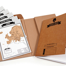 2PCS Creative Show Deluxe Erase World Travel Scrap Scratch Map Notebook World Notepad Plan note book Room Home Office