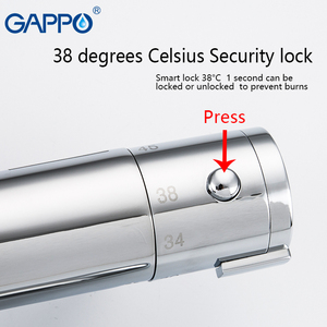 Image 5 - GAPPO thermostatic shower faucet chrome color bathroom bath shower mixer set waterfall rain shower head bathtub faucet taps