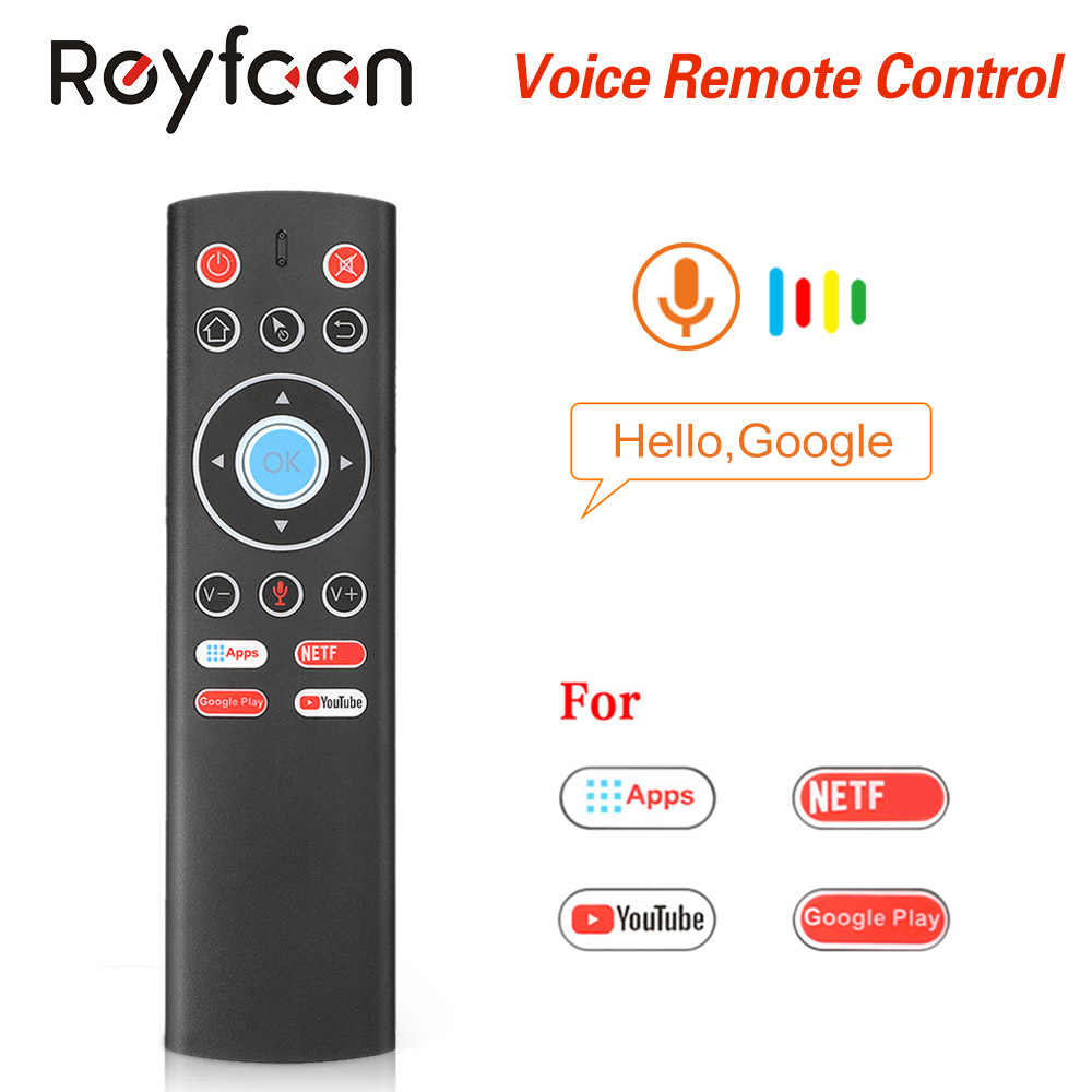 T1 Suara Remote Control 2.4G Air Mouse G10 Giroskop untuk Google Pemain Youtube Tx6 T95 Max Q Plus X88 pro A95X F2 Tv Box