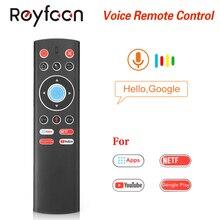 T1 controle remoto de voz 2.4g ar mouse g10 giroscópio para google player youtube tx6 t95 max q plus x88 pro caixa tv a95x f2