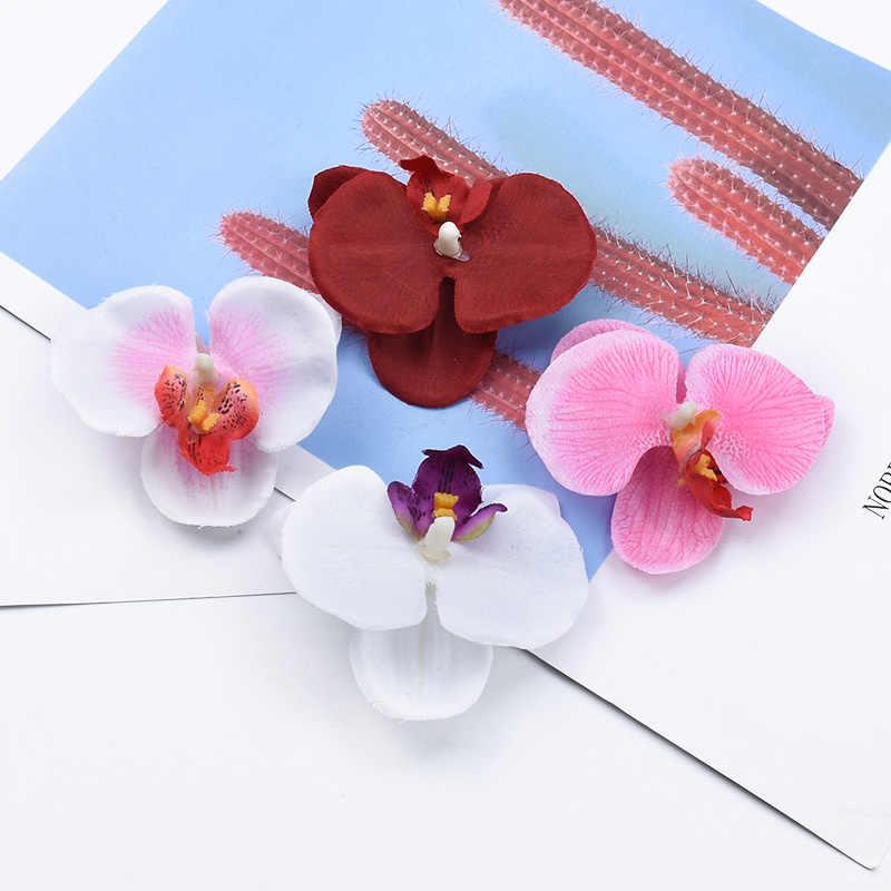 2/5/10 Stuks Vlinder Orchidee Plastic Bloem Bruiloft Decoratieve Diy Geschenken Box Scrapbooking Home Decor Kunstplanten Goedkope