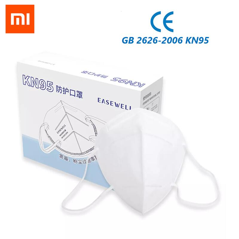 10pcs Xiaomi Easywell KN95 Face Mask 360 Degree Air Wear Anti-haze Mask Adjustable Ear Hanging Comfortable For Adults