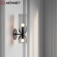 Modern Sconce Lamp Wall Light Glass Lampshade LED Lighting Fixture for Home decor bedroom Lamps black Lampadas