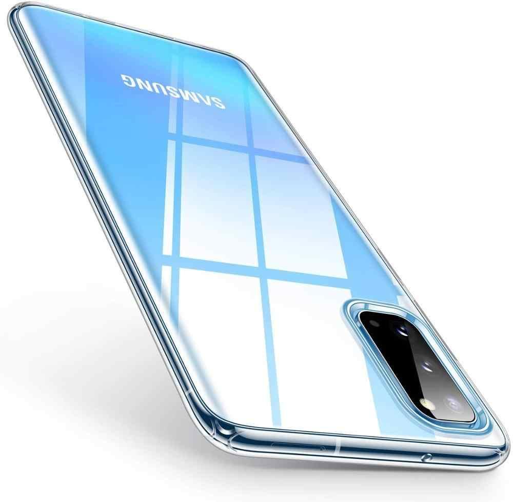 Untuk Samsung Galaxy A51 A71 Case Ultra Tipis Jelas Lembut TPU Case untuk Samsung S20 Ultra Plus A01 A11 M30S m21 A70E A41 M11 A21 A50