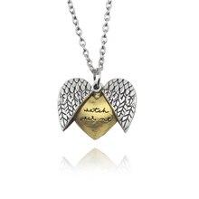 Новое поступление часы над мной ожерелья с буквой на заказ Открытый медальон сердце крыло кулон ожерелье ювелирные изделия подарок для женщин дропшиппинг