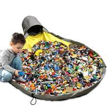 Crianças brinquedo portátil limpar-up saco de armazenamento recipiente multifuncional portátil brinquedos armazenamento saco de feijão à prova dwaterproof água organizador balde