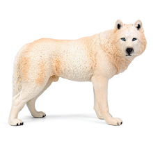 Childrens Solid plastic toy simulation wild animal wolf model new large male ornaments