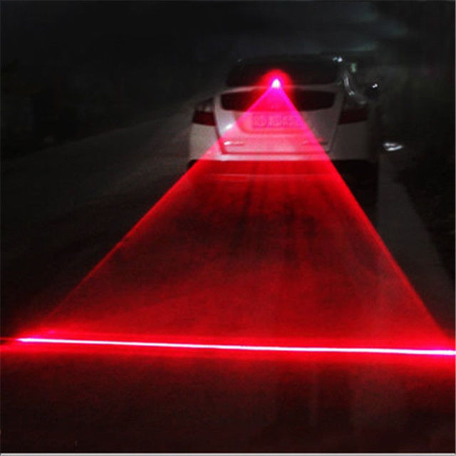Car LED Laser Fog Light Vehicle Anti-Collision Tail-light Brake Warning Lamp Roadway Safety Traffic Light