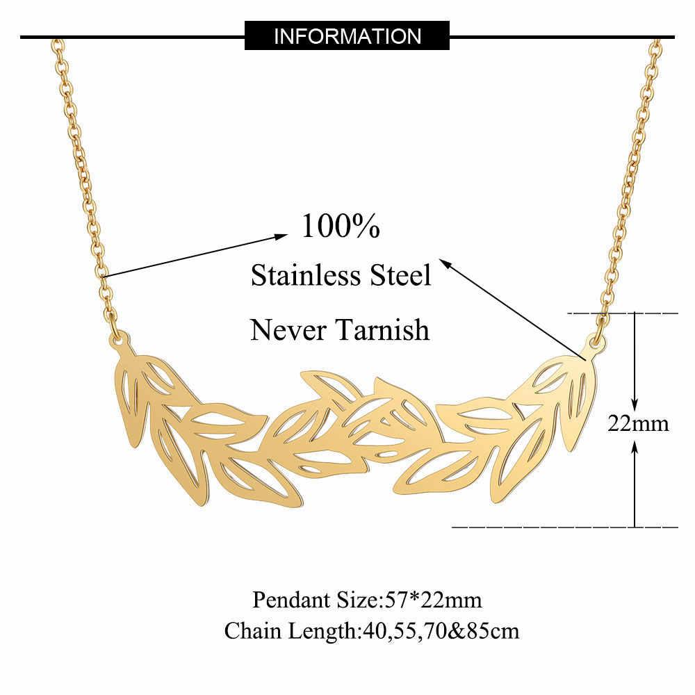 Unikalny duży liść naszyjnik LaVixMia włochy projekt 100% ze stali nierdzewnej naszyjniki dla kobiet super moda biżuteria specjalny prezent