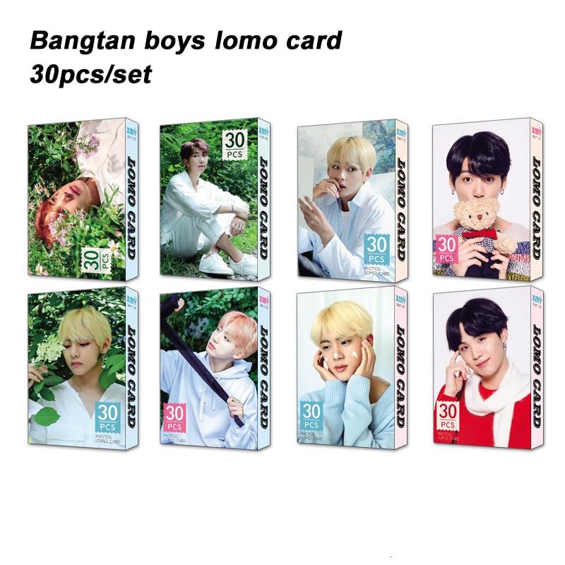 30pcs/set Fashion Kpop Bangtan Boys Photocard JUNGKOOK V JIMIN Album Photo Lomo Card Poster Kpop Bangtan Boys Supplies