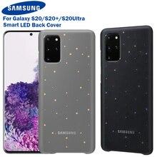 Funda Original para Samsung Galaxy S20 Ultra S20 + S20 plus, carcasa trasera con efecto de iluminación LED emotiva