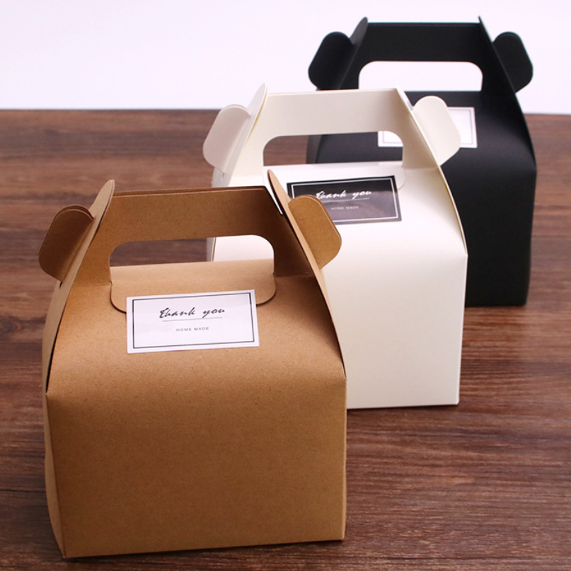 MissYe Store 10pcs/lot Small Kraft paper box brown cardboard handmade soap box,white craft paper gift box,black package