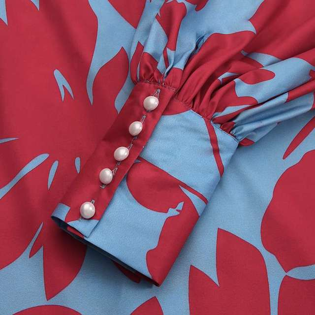 amazing maxi dress with long lantern sleeves, elegant yet comfortable  5