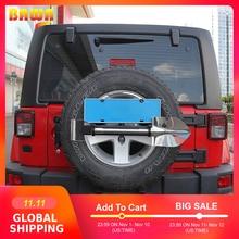 BAWA License Plate Frame for Jeep Wrankler for Suzuki Jimny Stainless Steel Flag Pole Bracket Licence Plate Holder
