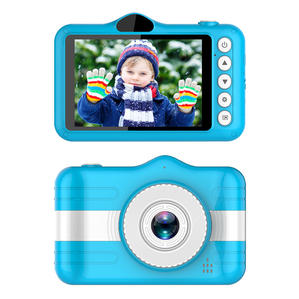 Mini Digital Kids Camera 3.5 Inch Cartoon Cute Camera Toys For Children 1080P Toddler Toys Students Education Video Camera Gift