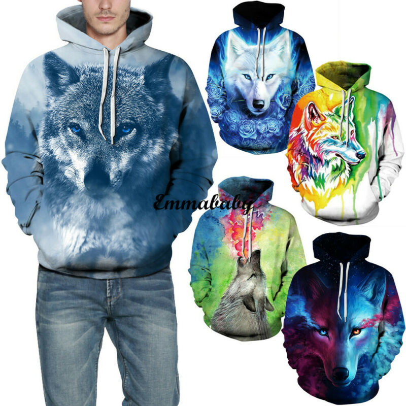 New Fashion Men's Pullover 3D Printed Hoodie Hooded Sweatshirt Loose Autumn Winter Women's Hoody Tops