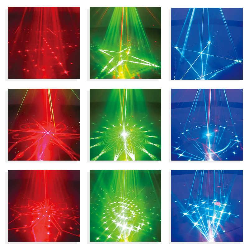 YSH Della Discoteca Della Luce Laser Del DJ Del Partito Luci 128 Patterns Proiettore per DJ Stage di Decorazione RGB Colorato effetto di Illuminazione per la Cerimonia Nuziale