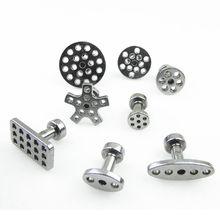 Lengüetas extractoras de pegamento de aluminio para Kit de herramientas PDR de coche, 8 tamaños con 8 Uds.