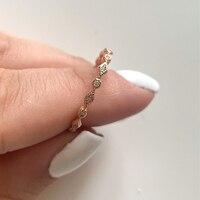 Anillos ZHOUYANG para mujer, Mini circonita cúbica Simple y bonita, dedo color oro claro, regalos del anillo fino, joyería de moda KCR112