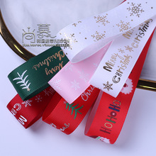 10/100yards 25mm printed christmas grosgrain ribbon for gift packing pacakge bow decoration hair bow diy accessories supplies цена и фото