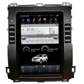 6 ядер, Android 9,0, Автомобильная лампочка для Lexus GX470/Toyota Land Cruiser Prado 120 2002-2009, Tesla Style 10,4