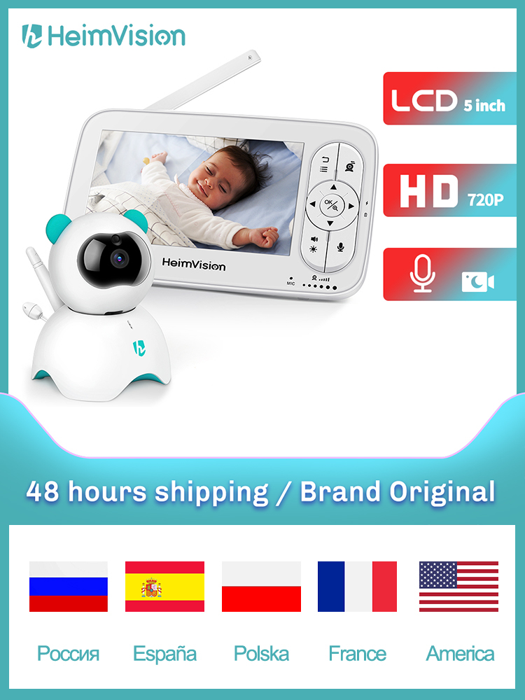 Baby-Monitor Camera Nanny Video-Color Heimvision Hm136 Security Wireless with 720P HD