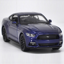 цена на Maisto 1/24 1:24 2015 Ford Mustang GT Sport Racing Car Vehicle Diecast Display Model Toy For Kids Boys Girls