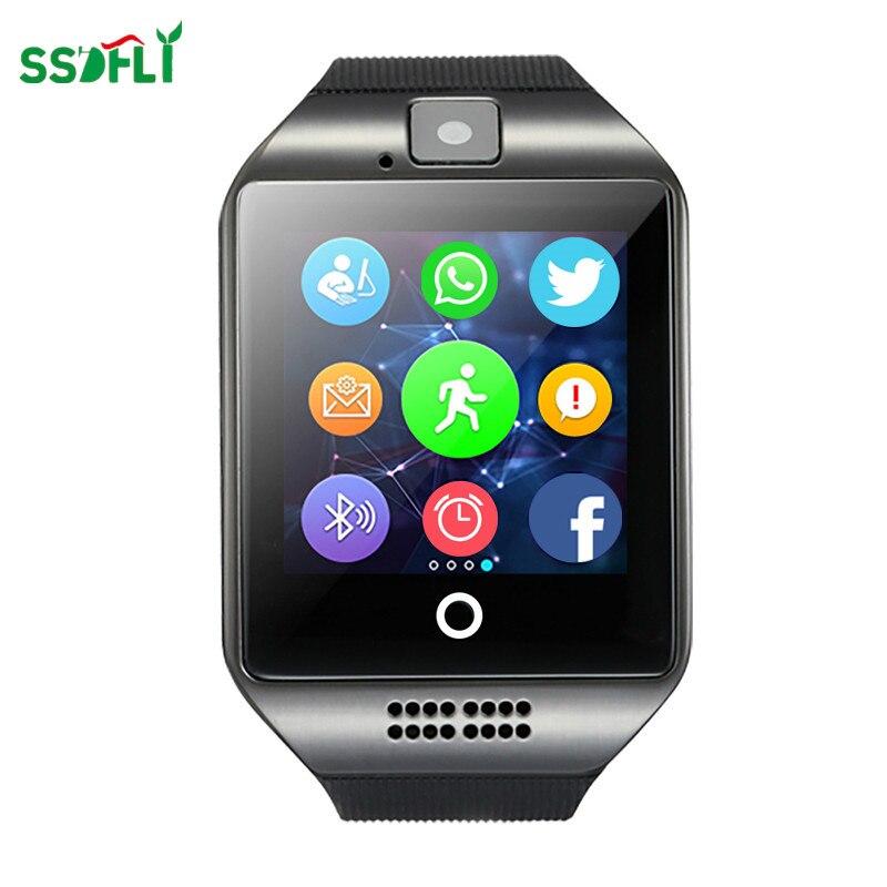 Ssdfly Relógio Inteligente com Tela Sensível Ao Toque Câmera Cartão Tf Câmera Whatsapp Facebook Twitter Bluetooth Smartwatch para Android Ios Telefone